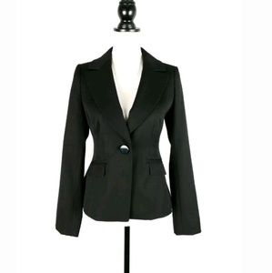 Ann Taylor black wool button front blazer